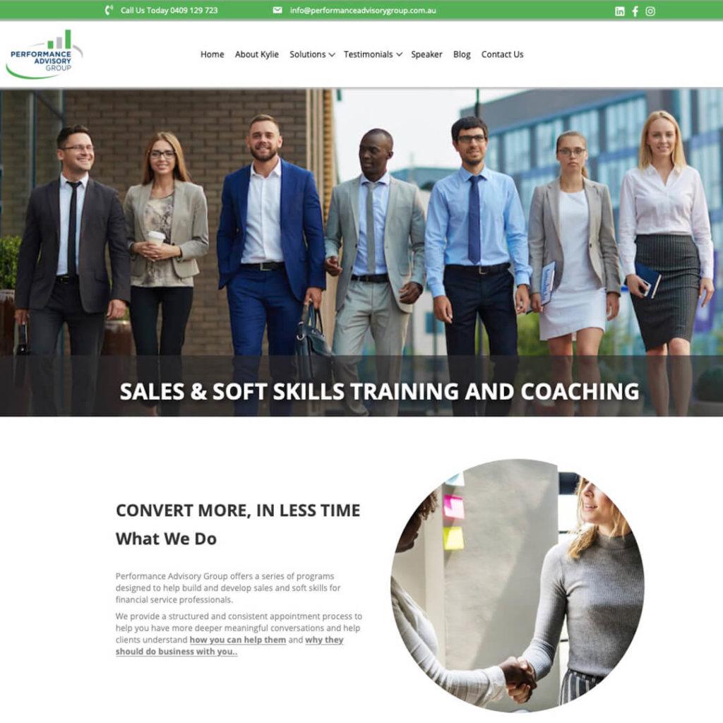 Performance Advisory Group's New Website