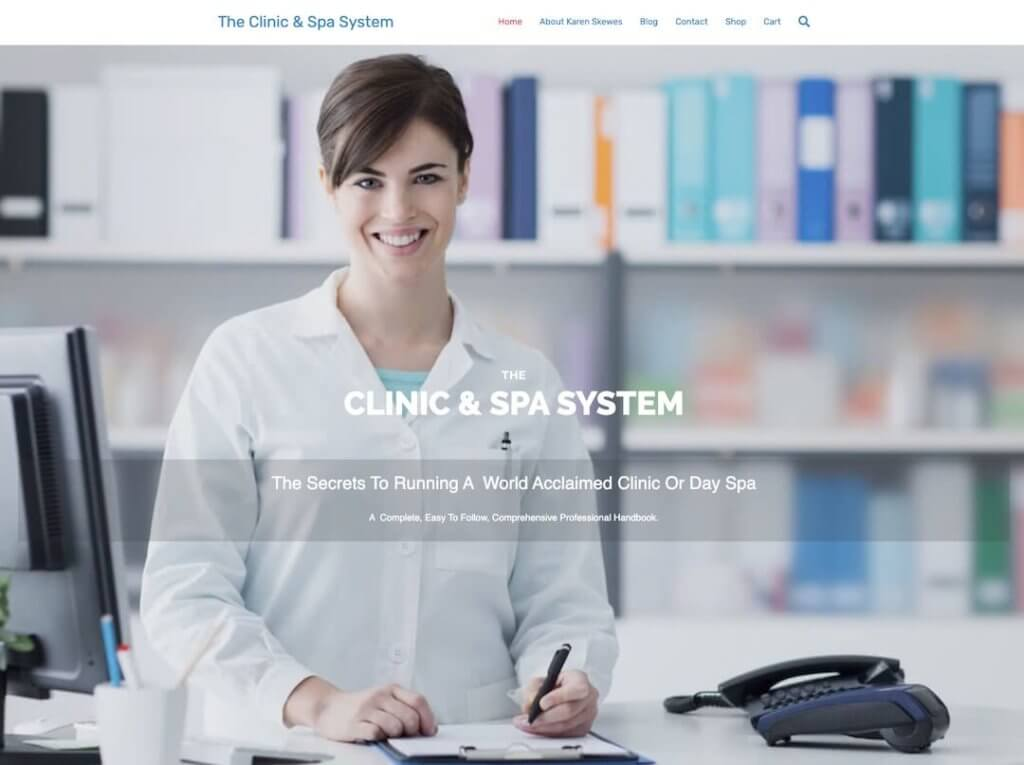 clinic-and-spa-system-website