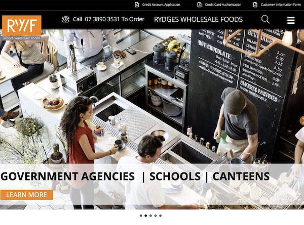 Rydges Wholesale Foods Website