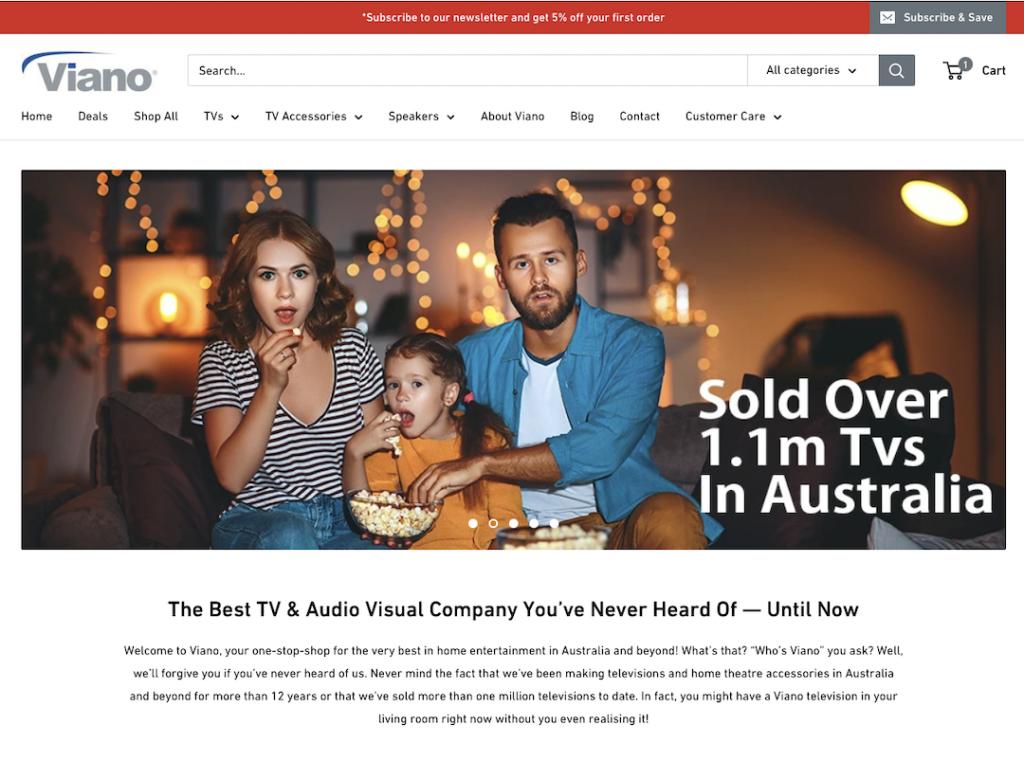Viano TVs Website