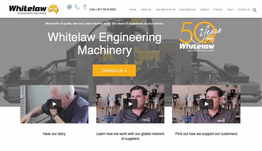 whitelaw-engineering-machinery-website
